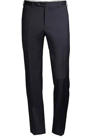 CANALI Men Formal Pants - Slim-Fit Wool Trousers