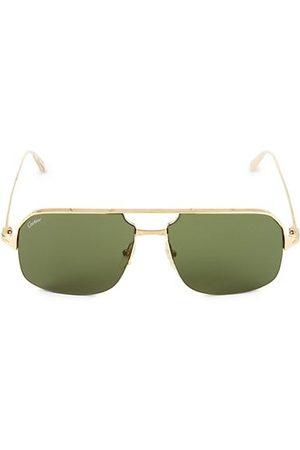 Cartier Men Sunglasses - 59MM Goldtone Aviator Sunglasses