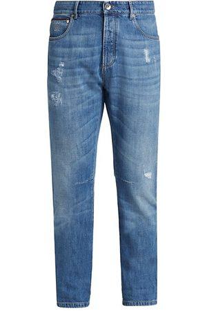 Brunello Cucinelli Leisure-Fit Distressed Jeans