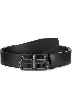 Balenciaga Men Belts - Large BB Logo Leather Belt