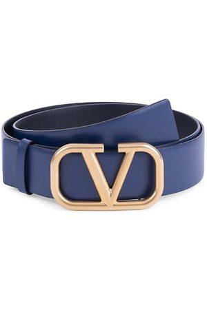 VALENTINO Garavani V Logo Leather Belt