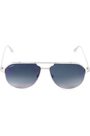 Cartier Men Sunglasses - 60MM Metal Aviator Sunglasses