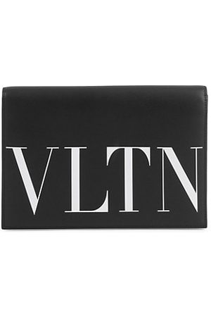 VALENTINO Men Briefcases - Garavani VLTN Leather Pouch With Card Case