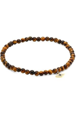 Sydney Evan Men Bracelets - Love 18 14K Yellow Gold, Sapphire, Diamond & Tiger Eye Bead Bracelet