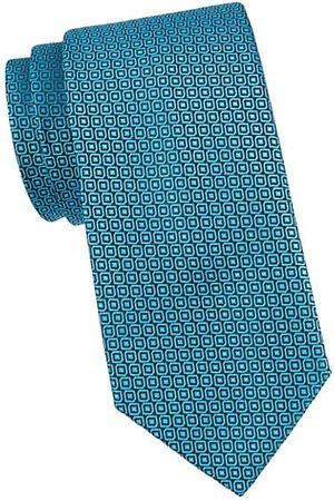 Charvet Geometric-Print Silk Tie