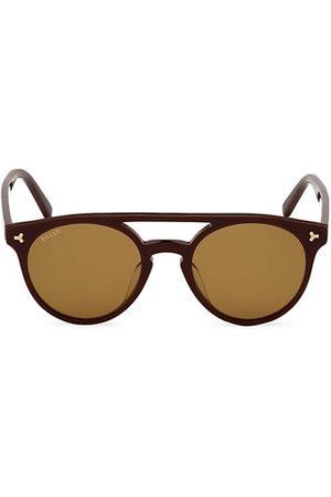Bally 50MM Plastic Round Sunglasses