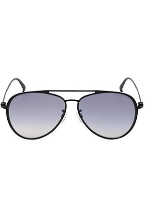 Bally 61MM Metal Aviator Sunglasses