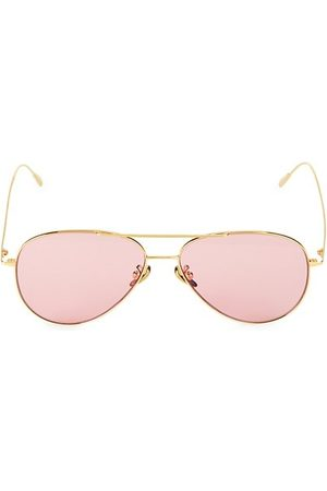Cutler and Gross 58MM Tinted Aviator Sunglasses