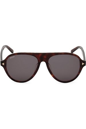 Bally Men Sunglasses - 57MM Plastic Aviator Sunglasses