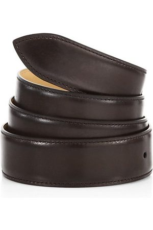 CORTHAY Men Belts - Ebene Patina Leather Belt