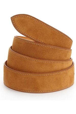 CORTHAY Men Belts - Castor Suede Belt