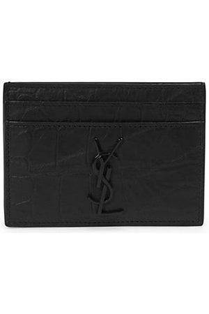 Saint Laurent Men Wallets - Embossed Leather Cardholder