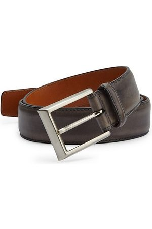 Saks Fifth Avenue COLLECTION BY MAGNANNI Burnished Leather Belt