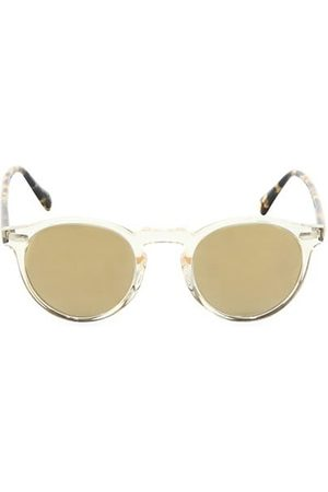 Oliver Peoples Men Sunglasses - Gregory Peck 47MM Round Sunglasses