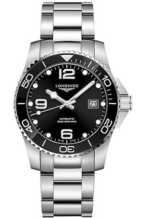 Longines Men Watches - HydroConquest Stainless Steel & Ceramic Bracelet Automatic Diving Watch