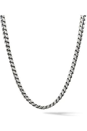 David Yurman Chain Sterling Micro Curb Link Necklace