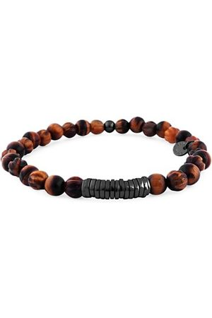 Tateossian Men Bracelets - Beaded Sterling Bracelet