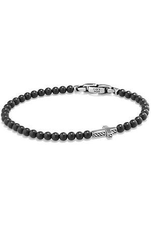 David Yurman Men Bracelets - Spiritual Beads Onyx Cross Station Bracelet
