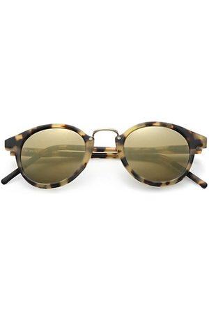KYME Frank 46mm Round Monel Bridge Sunglasses