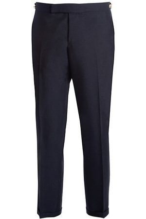 Thom Browne Low Rise Skinny-Fit Wool Pants