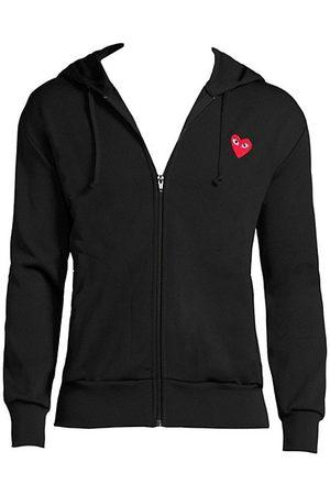 Comme des Garçons Sweatshirts - Signature Logo Zip-Front Hoodie