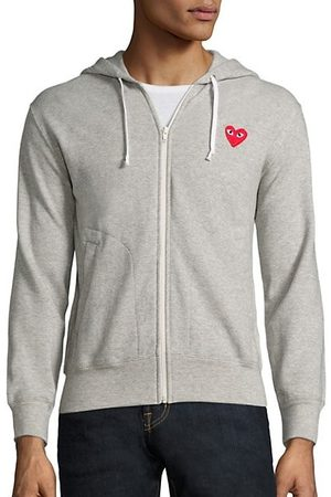 Comme des Garçons Heathered Signature Logo Patch Jersey Hoodie