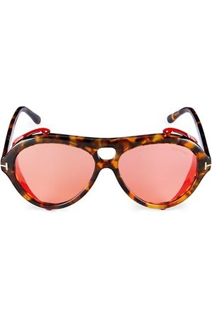 Tom Ford 60MM Plastic Pilot Sunglasses