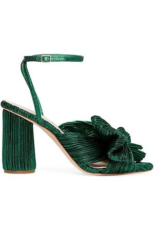 Loeffler Randall Sandals - Camellia Knotted Lamé Sandals