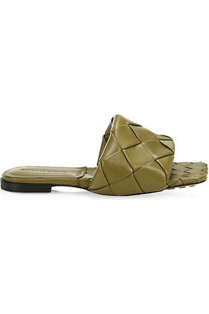 Bottega Veneta Sandals - Lido Flat Leather Sandals