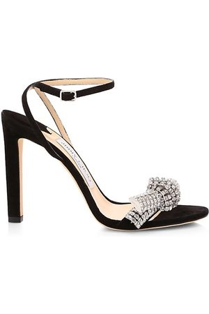 Jimmy Choo Thyra Embellished Suede Sandals