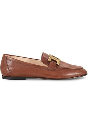 Tod's Almond-Toe Leather Loafers