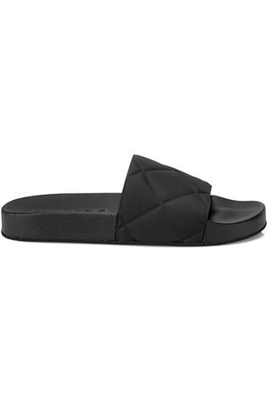Bottega Veneta Slider Quilted Rubber Pool Slides