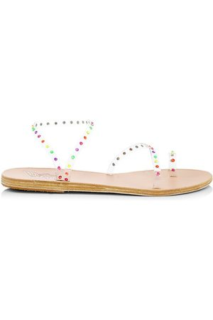 Ancient Greek Sandals Apli Eleftheria Crystal-Embellished Vinyl Sandals