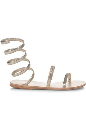 Ancient Greek Sandals Sandals - Ofis Wraparound Ankle-Strap Metallic Leather Sandals