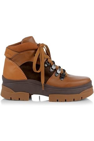See by Chloé Aure Leather Hiking Boots