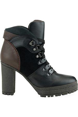 See by Chloé Leather Stack Heel Hiking Boots