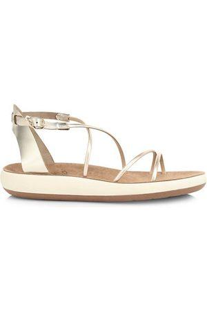 Ancient Greek Sandals Sandals - Anastasia Metallic Flatform Sandals