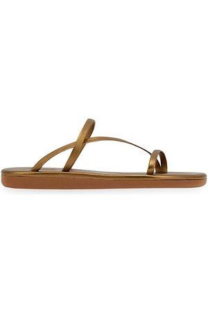Ancient Greek Sandals Sandals - Parthena Metallic Leather Sandals