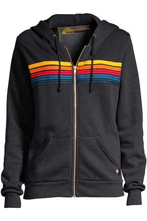 AVIATOR NATION Women Sweatshirts - Five-Stripe Zip-Front Hoodie