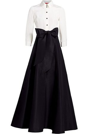 Carolina Herrera Women Party Dresses - Icon Contrast Silk Trench Dress