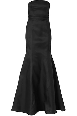 Carolina Herrera Icon Waist-Knot Silk Trumpet Gown