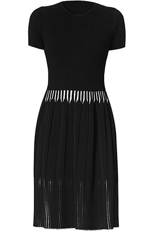 Carolina Herrera Women Party Dresses - Icon Rib-Knit Short-Sleeve Dress