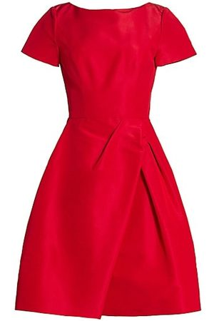 Carolina Herrera Women Party Dresses - Icon Draped Bateau-Neck Silk Dress
