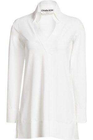CHIARA BONI Parthea Collar V-Neck Tunic