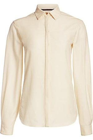 Agnona Wool Tailored Button Down Blouse