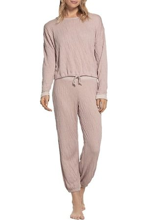 Barefoot Dreams The Malibu 2-Piece Crinkle Jersey Sweatshirt & Sweatpants Set