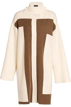 AKRIS Women Coats - Reversible Intarsia Cashmere Knit Coat