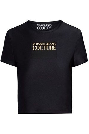 VERSACE Women Short Sleeve - Logo Crop T-Shirt