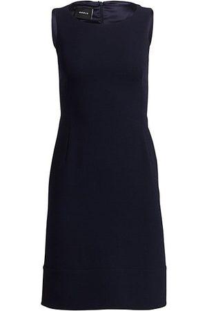 AKRIS Sleeveless Double-Face Wool Dress