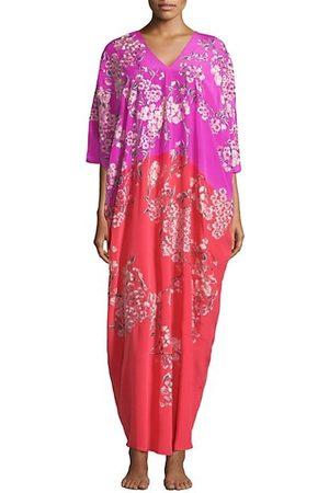 Natori Women Nightdresses & Shirts - Hana Floral Silk Nightgown